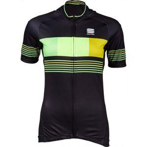 Sportful STRIPE JERSEY fekete XXXL - Kerékpáros mez