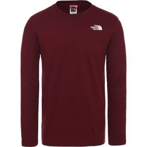 The North Face L/S EASY TEE DEEP M bordó XL - Férfi póló