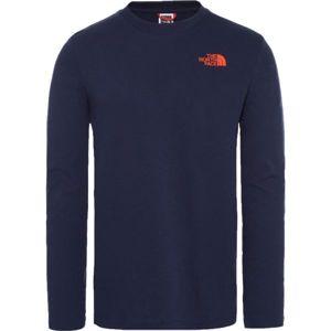 The North Face L/S EASY TEE kék S - Férfi póló
