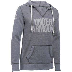 Under Armour FAVORITE FLEECE WM POPOVER sötétszürke XS - Női pulóver