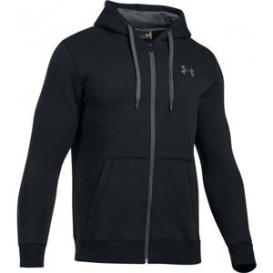 Under Armour RIVAL FITTED FULL ZIP fekete L - Férfi pulóver