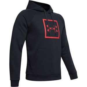 Under Armour RIVAL FLEECE BOX LOGO HOODIE - Férfi pulóver