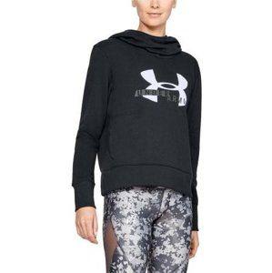Under Armour Cotton Fleece Sportstyle Logo hoodie Kapucnis melegítő felsők - fekete