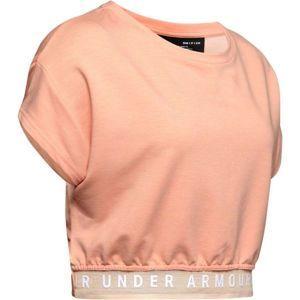 Under Armour FEATHERWEIGHT FLEECE CROP TOP rózsaszín L - Női crop top