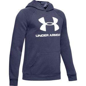 Under Armour Rival Logo Hoodie Kapucnis melegítő felsők - Kék - S (128)