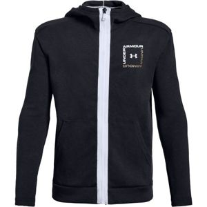 Under Armour UNSTOPPABLE DOUBLE KNIT FULL ZIP fekete L - Fiú pulóver
