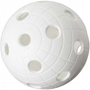 Unihoc MATCHBALL CRATER WHITE   - Floorball labda